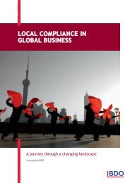 Local compliance in Global Business - BDO International