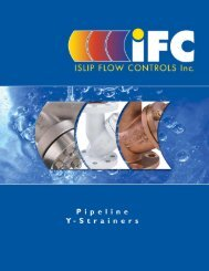 Cast Y-Strainers - ISLIP Flow Controls