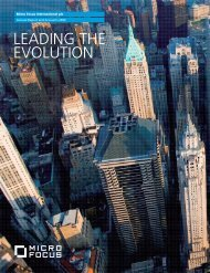 Micro Focus Annual Report and Accounts 2009 - Investor Relations