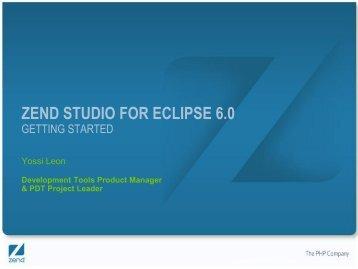 ZEND STUDIO FOR ECLIPSE 6.0