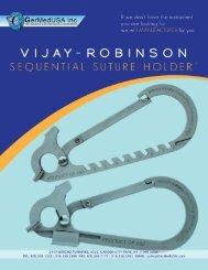 Vijay-Robinson Sequential Suture Holder - GermedUSA Inc.