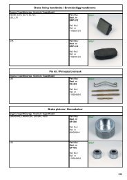 Brake lining handbrake - OBER Baumaschinen
