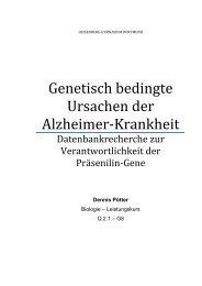 Genetisch bedingte Ursachen der Alzheimer-Krankheit
