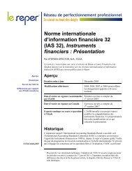 IAS 32 F, Instruments financiers : Présentation - PD Net