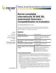 IAS 39 , Instruments financiers : Comptabilisation et ... - PD Net