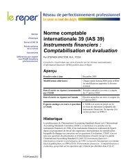 IAS 39: Instruments financiers : Comptabilisation et ... - PD Net