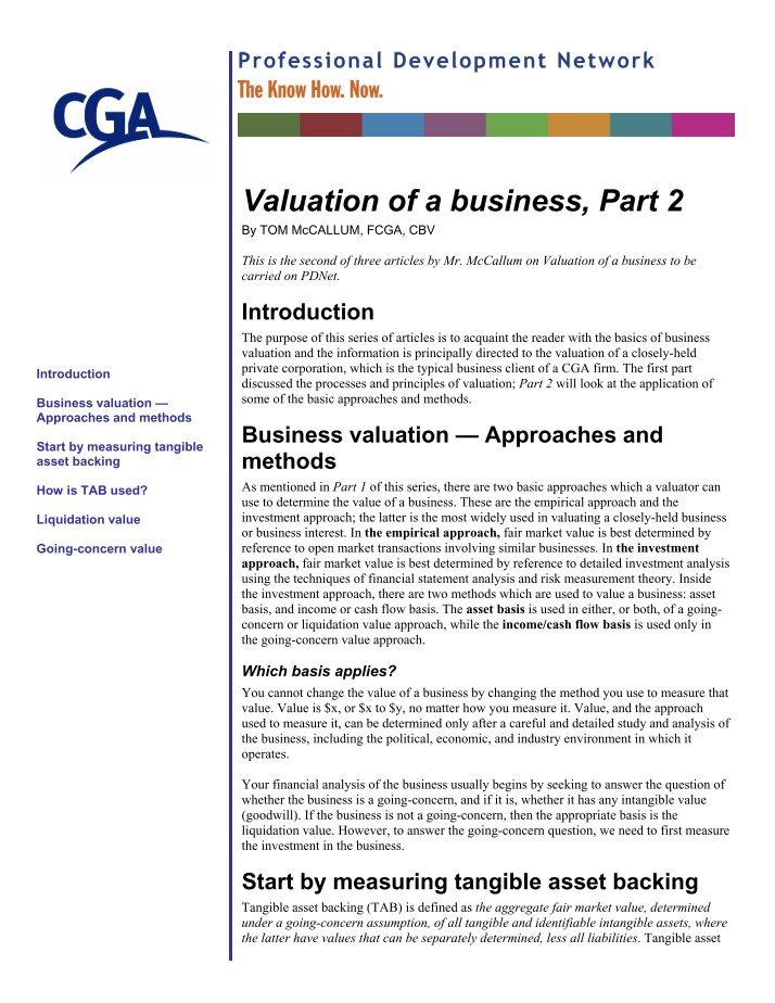 valuation of airthread brief Business valuation and credit analysis case solution,business valuation and credit analysis case analysis, business valuation and credit analysis case study solution, calaveras vineyards q1 brief recap of history of calaveras calaveras vineyard was established in the year 1883.