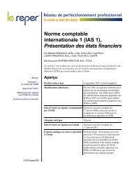IAS 1, Présentation des états financiers - PD Net