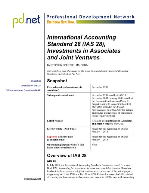 Accounting for investments in associates and joint ventures walton investments