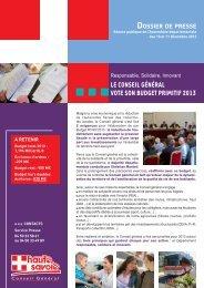 Télécharger le document de présentation du budget 2013 - Conseil ...