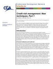 Credit risk management: New techniques, Part 1 - PD Net