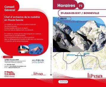 Horaires 71 - Conseil Général de Haute-Savoie