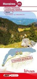 Horaires - Conseil Général de Haute-Savoie