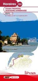 Horaires 151 - Conseil Général de Haute-Savoie