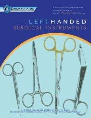 Left Handed Surgical Instruments - GermedUSA Inc.