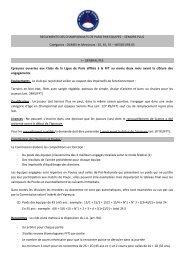 REGLEMENTS DES CHAMPIONNATS DE PARIS PAR EQUIPES ...