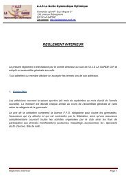 REGLEMENT INTERIEUR - AJS La Garde