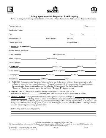 4 seller understands and sample listing agreement kemonwheels platinumwayz