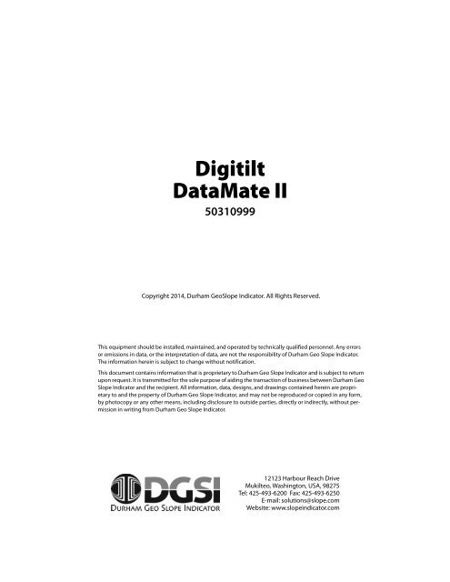 DIGITILT DATAMATE II DESCARGAR CONTROLADOR