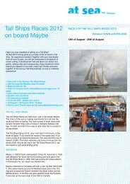 Race 3 La Coruna - At Sea Sail Training