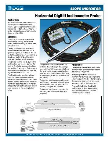 horizontal digitilt inclinometer probe slope indicator. Black Bedroom Furniture Sets. Home Design Ideas