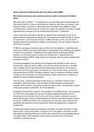 Nota à Imprensa do Movimento pelo Cine Belas Artes (MBA ...