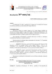 Resolución Nº 001/12 - Facultad de Ciencias Económicas y Jurídicas