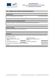Abschlussbericht Teil I. Angaben zum Projekt und Zusammenfassung