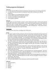 Training programme development - Don Bosco Youth-Net