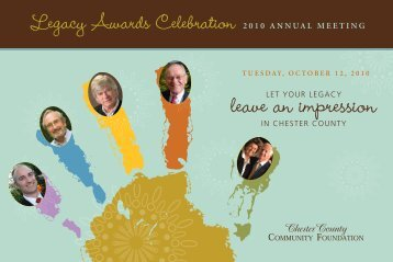 leave an impression - Chester County Community Foundation