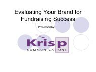 Evaluating Your Brand for Fundraising Success