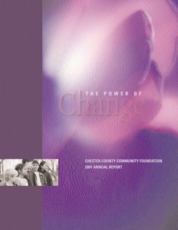 chester county community foundation 2001 annual report
