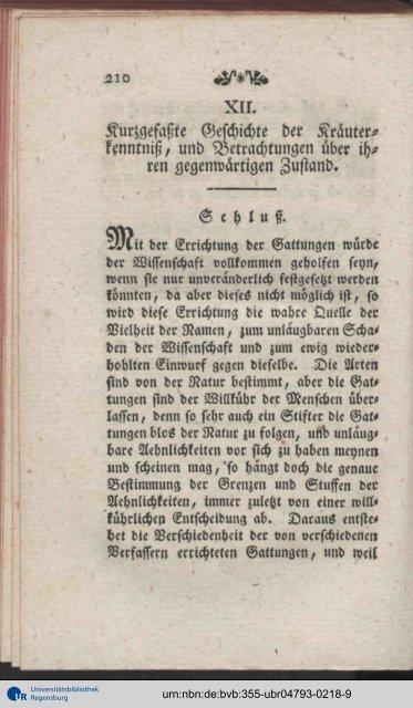 XII. Kurzgefaßte Geschichte der Kräuter- kenntmß, und ...