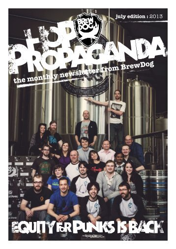 the monthly newsletter from BrewDog july edition