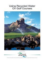 Using Recycled Water On Golf Courses - STMA