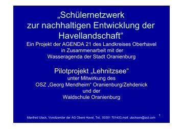[m] W asserte m p eratur - Landkreis Oberhavel
