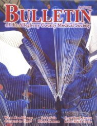 Bulletin 11apr - Allegheny County Medical Society