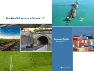 Financing Strategy - Brookfield Infrastructure Partners LP