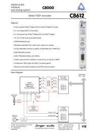 Jünger Audio C8612 Manual - PDF - Aspen Media.