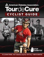 cyclist guide - Tour de Cure - American Diabetes Association