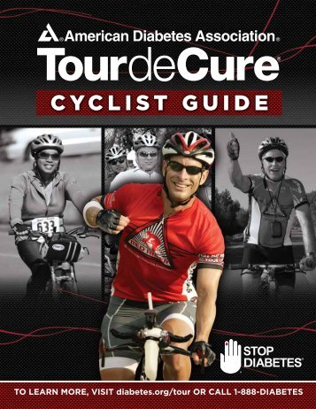 cyclist guide - Tour de Cure - American Diabetes Association