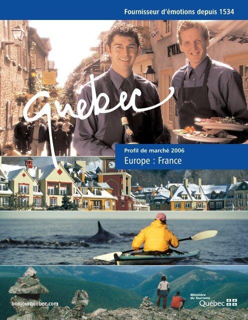 Profil de marché : France - Tourisme Québec