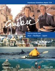 Profil de marché : Japon - Tourisme Québec