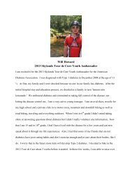 Will Howard 2013 Skylands Tour de Cure Youth Ambassador