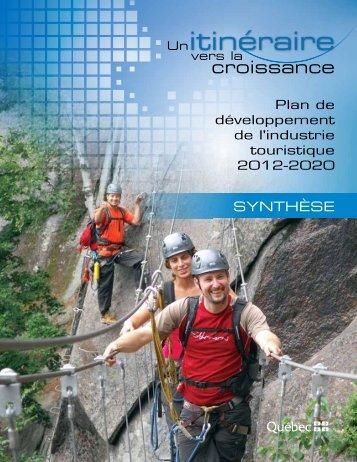 Plan de développement de l'industrie touristique ... - Tourisme Québec