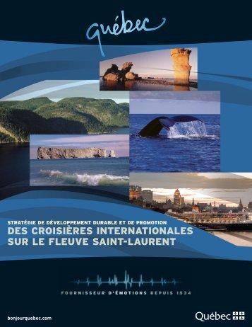 Stratégie de développement durable et de ... - Tourisme Québec