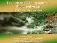 Tourism and Conservation in Protected Areas Tourism and ...