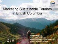 Marketing Sustainable Tourism: BC