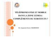 Téléphones fixe et mobile dans la zone UEMOA