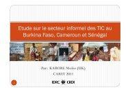 Etude sur le secteur informel des TIC au Burkina Faso, Cameroun et ...